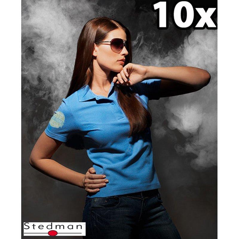 10x Damen-Polo-Shirts mit Ihrem Motiv bedruckt